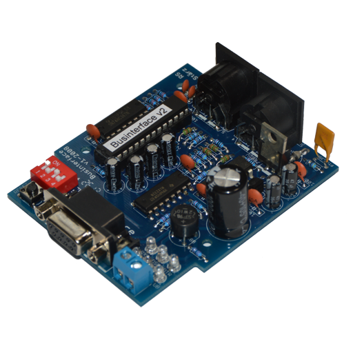 The Businterface is a module creating the Selectrix bus with integrated computer interface and is therefore the required component to achieve controlling Selectrix driven model railways via a computer.