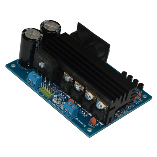 The Booster module Power-Pack PPS3A is a power amplifier for Selectrix controlled model railways to increase the maximum track current capacity of the system. The digital format amplified by the Power-Pack corresponds to what is provided via the PX-bus.